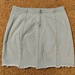 Forever 21 Skirts - Strechy Jean Mini Skirt